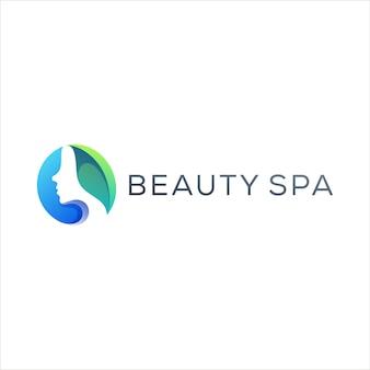 Création de logo dégradé beauté spa