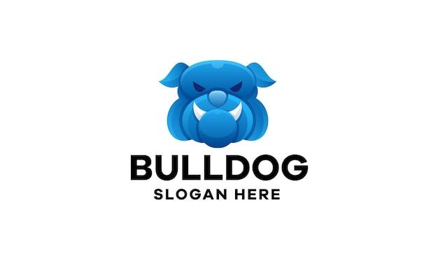 Création de logo de dégradé de bouledogue