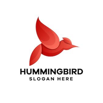Création de logo de dégradé de colibri