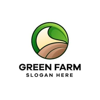 Création de logo de dégradé coloré agriculteur