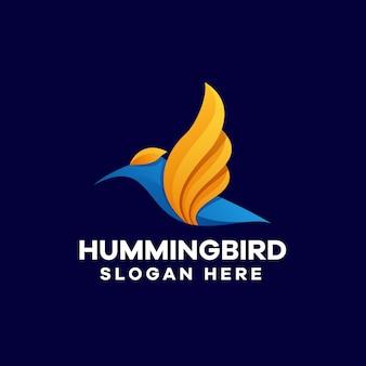 Création de logo de dégradé coloré colibri