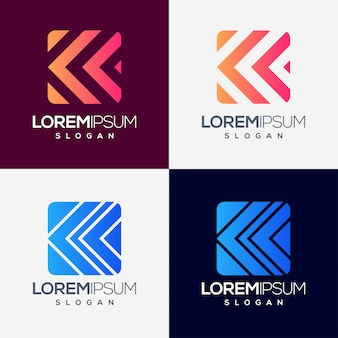 Création de logo dégradé coloré flèche