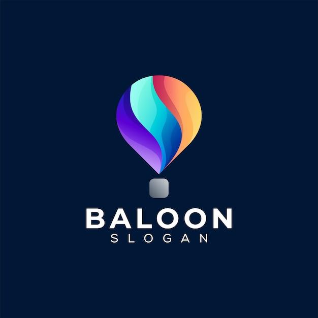 Création de logo dégradé de couleur ballon