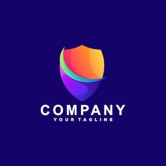 Création de logo dégradé de couleur bouclier