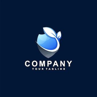 Création De Logo En Dégradé De Couleur De Bouclier Vecteur Premium