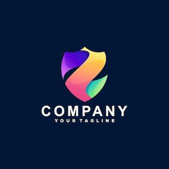 Création de logo en dégradé de couleur de bouclier