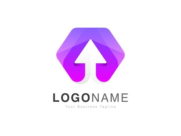Création de logo en dégradé de couleur avec flèche vers le haut