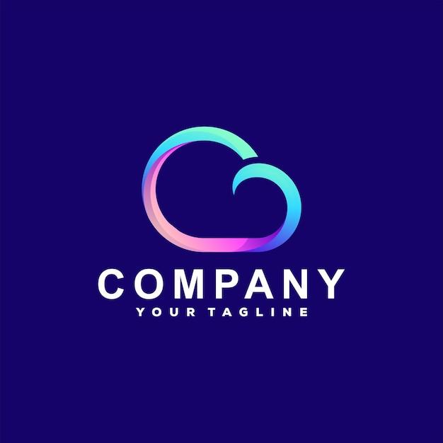Création de logo dégradé de couleur nuage