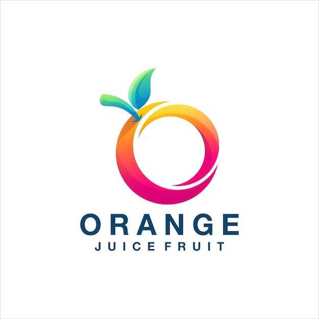 Création de logo dégradé de couleur orange