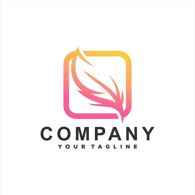 Création de logo en dégradé de couleur plume