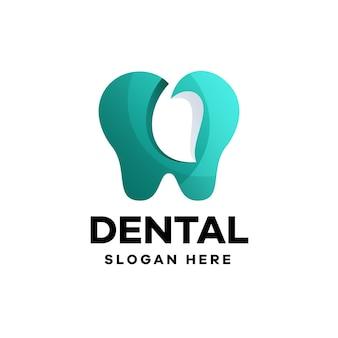 Création de logo de dégradé dentaire