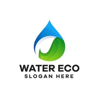 Création de logo de dégradé d'eau écologique