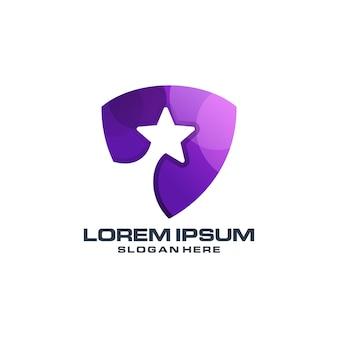 Création de logo dégradé étoile bouclier