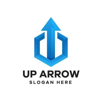 Création de logo de dégradé de flèche vers le haut
