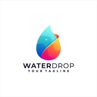 Création de logo dégradé de goutte d'eau
