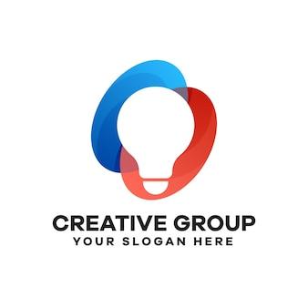 Création de logo de dégradé de groupe créatif