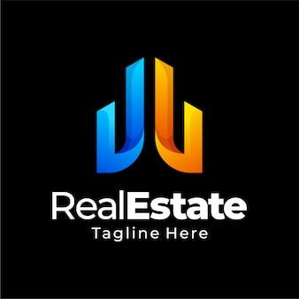 Création de logo dégradé immobilier
