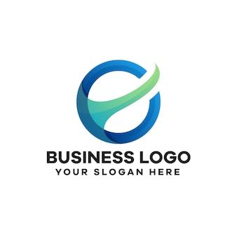 Création de logo de dégradé d'investissement commercial