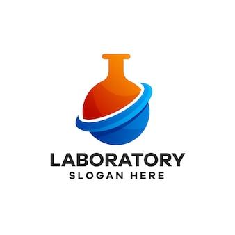 Création de logo de dégradé de laboratoire
