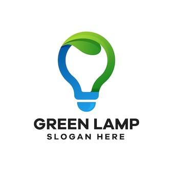 Création de logo dégradé lampe verte