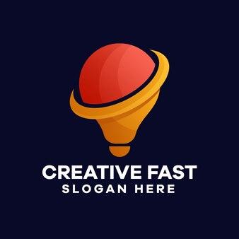 Création de logo de dégradé de lampe
