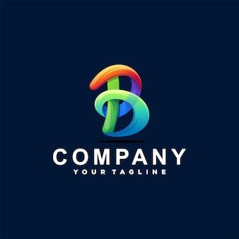 Création de logo dégradé lettre b