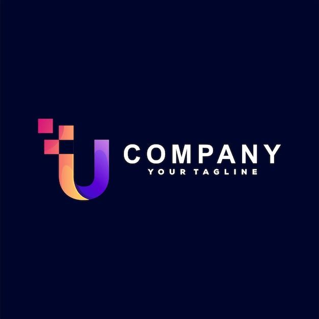 Création de logo dégradé lettre u