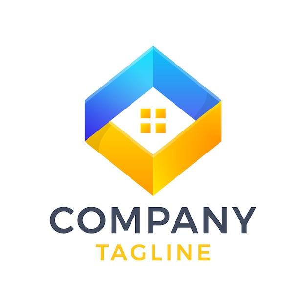 Création de logo dégradé moderne en diamant carré