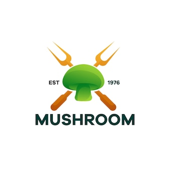 Création de logo de dégradé de nourriture aux champignons