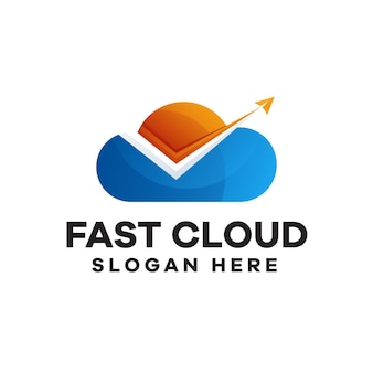 Création de logo de dégradé de nuage rapide