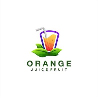 Création de logo dégradé orange jus