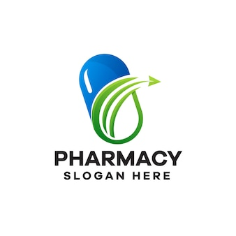 Création de logo de dégradé de pharmacie