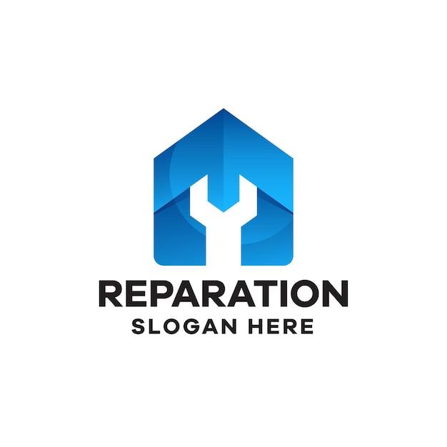 Création de logo de dégradé de réparation