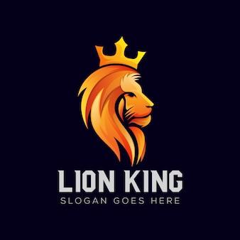 Création de logo dégradé de roi lion