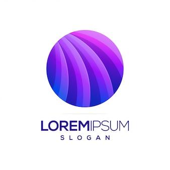 Création de logo dégradé rond coloré