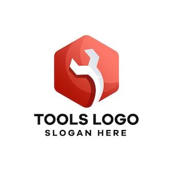 Création de logo de dégradé de service outils