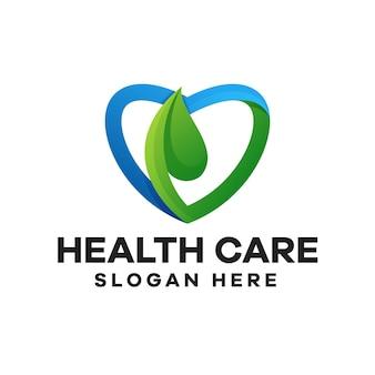 Création de logo de dégradé de soins de santé