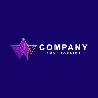 Création de logo dégradé tech abstraite