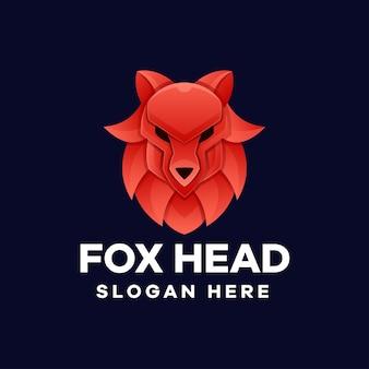 Création de logo de dégradé de tête de renard