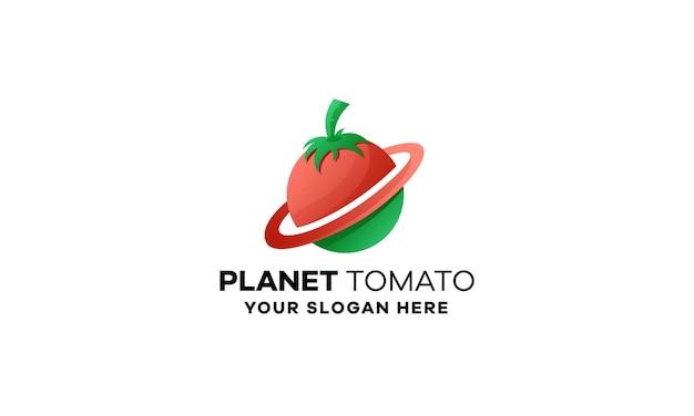 Création de logo de dégradé de tomate planète