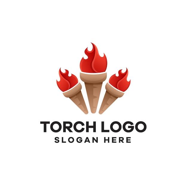 Création de logo de dégradé de torche