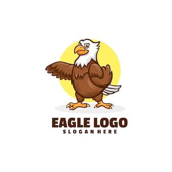 Création de logo de dessin animé aigle