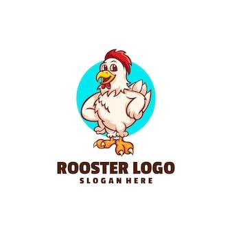 Création de logo de dessin animé de coq