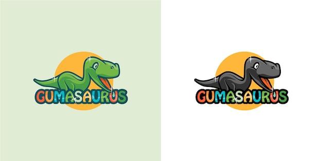 Création de logo de dessin animé de dinosaure