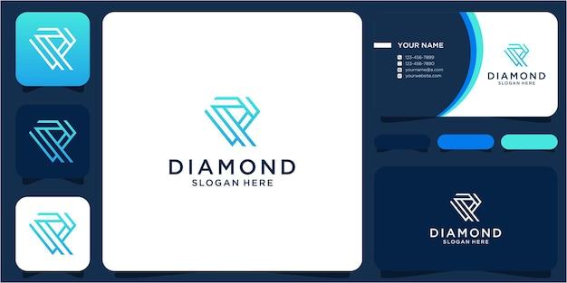 Création de logo diamant simple