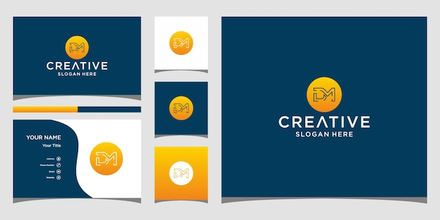 Création de logo dm avec modèle de carte de bussines