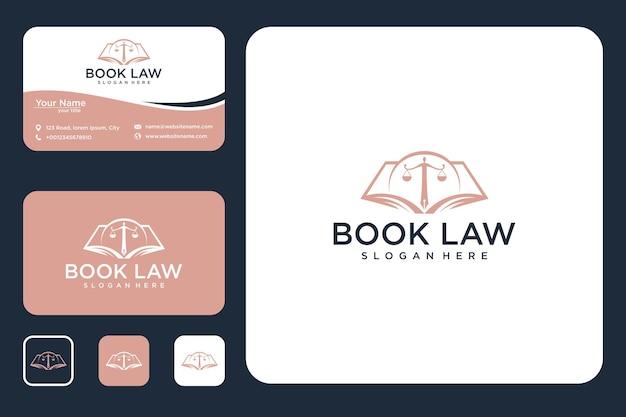 Création de logo de droit du livre et carte de visite