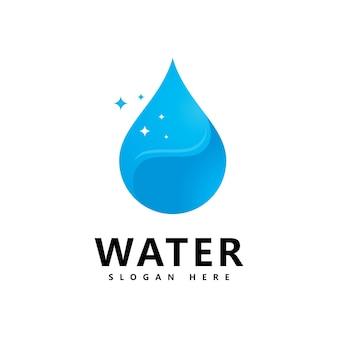 Création de logo d'eau aquatique. logo vectoriel goutte d'eau