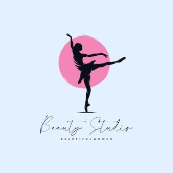 Création De Logo D'école De Danse Moderne Vecteur Premium