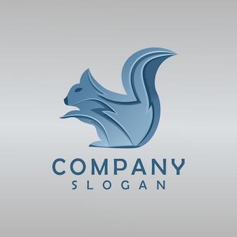 Création de logo d'écureuil